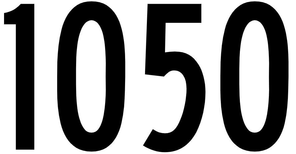 El número angelical 1050
