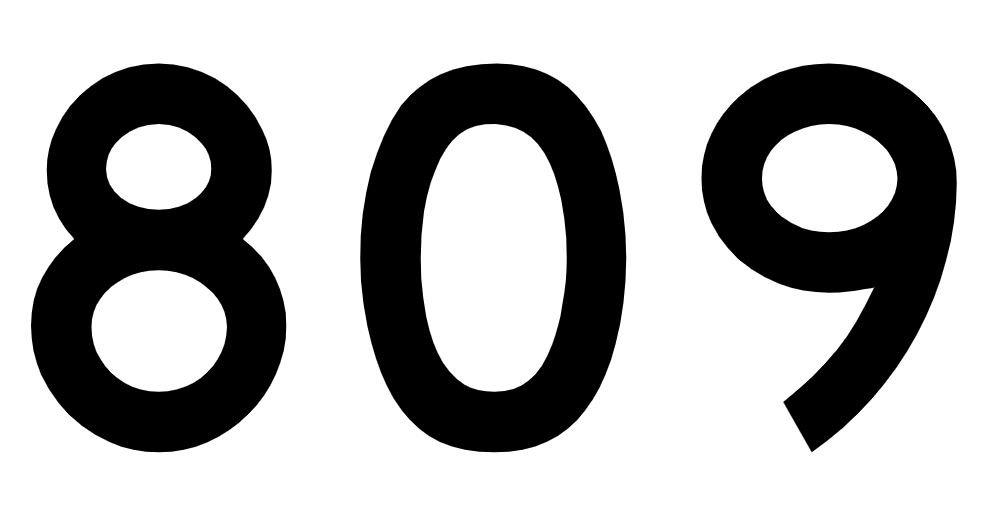 El número angelical 809