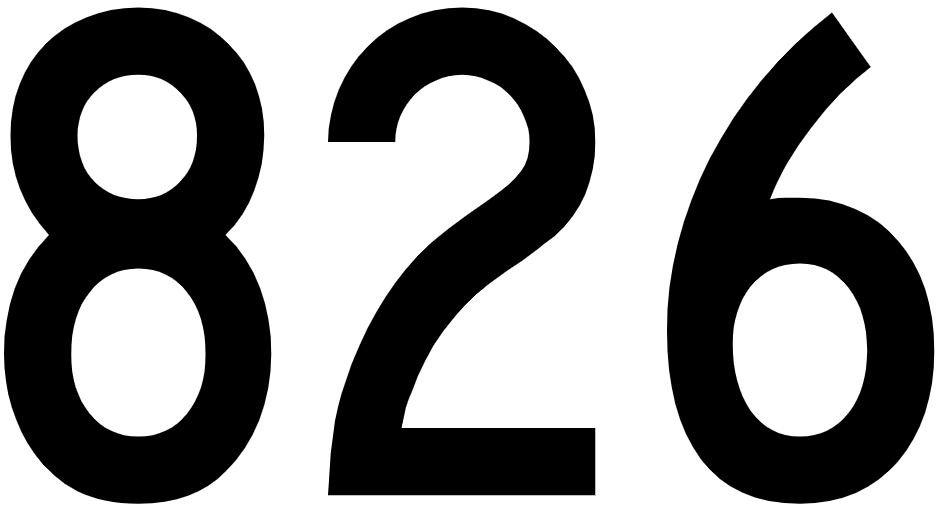 El número angelical 826