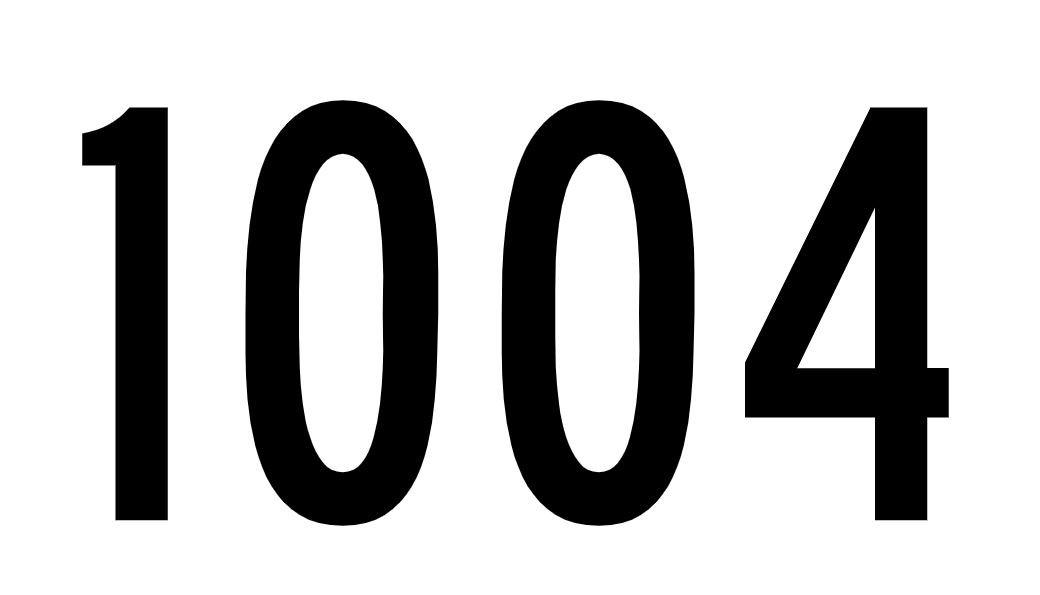 El número angelical 1004
