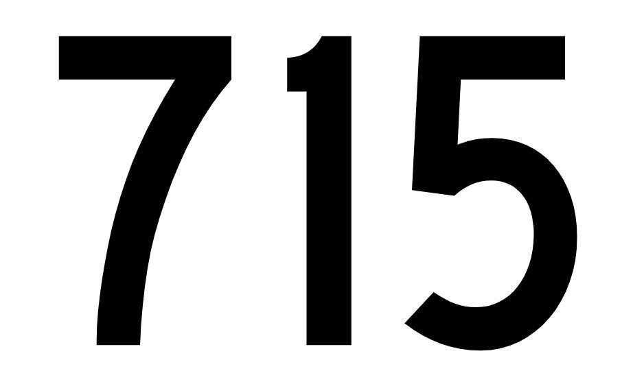 El número angelical 715