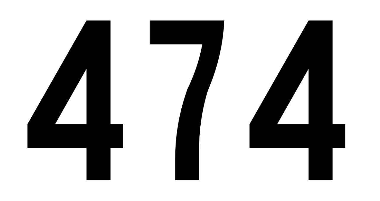 El número angelical 474
