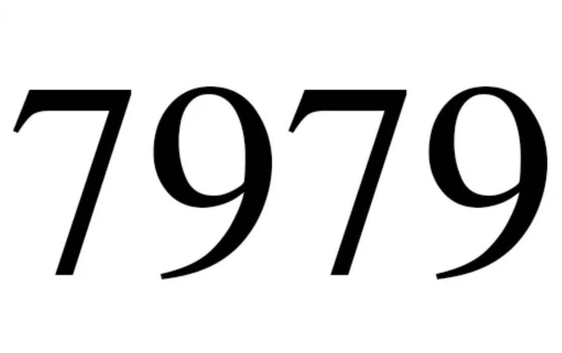 El número angelical 7979