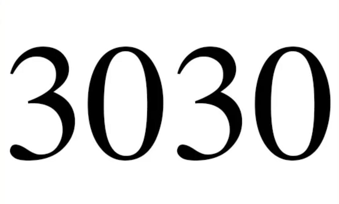 El número angelical 3030