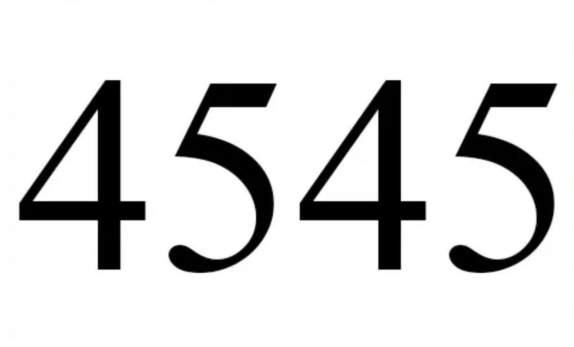El número angelical 4545