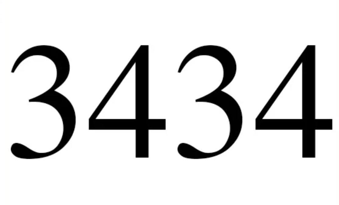El número angelical 3434