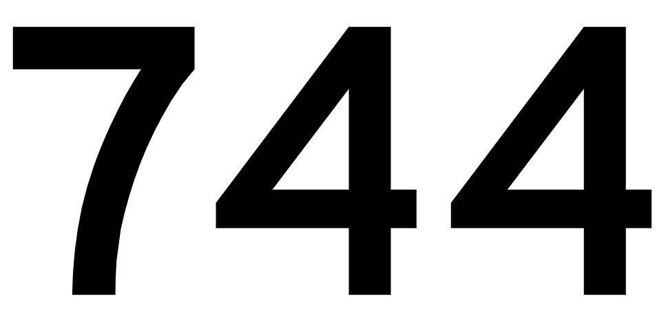 El número angelical 744