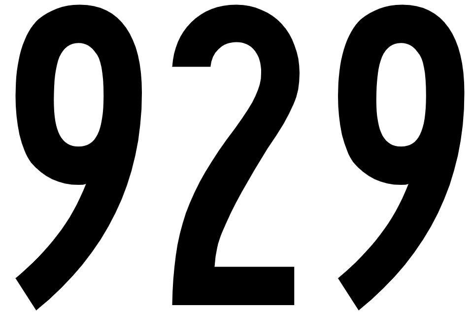 El número angelical 929
