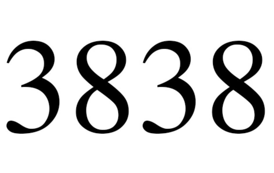 El número angelical 3838