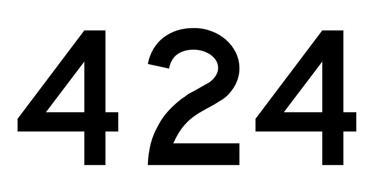 El número angelical 424