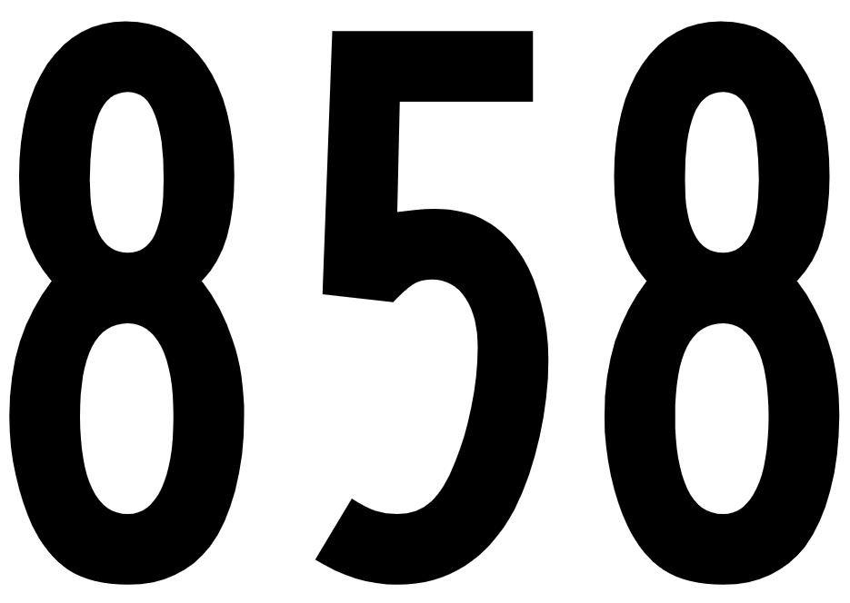El número angelical 858