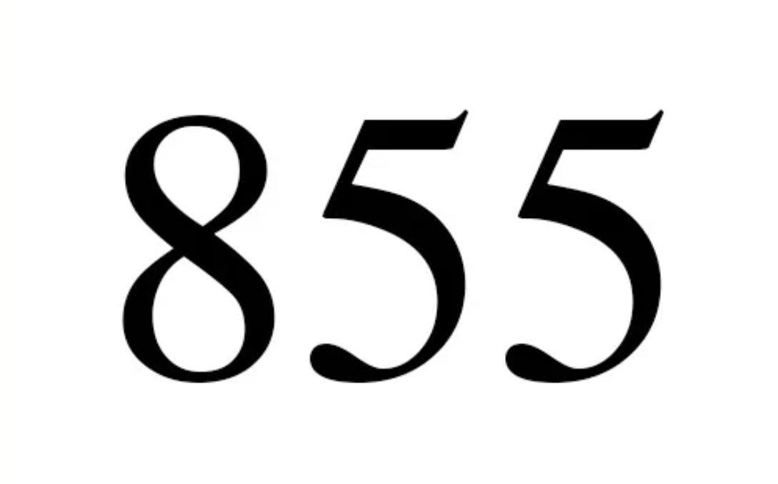 El número angelical 855