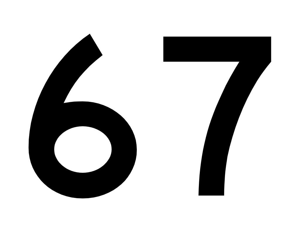 El número angelical 67