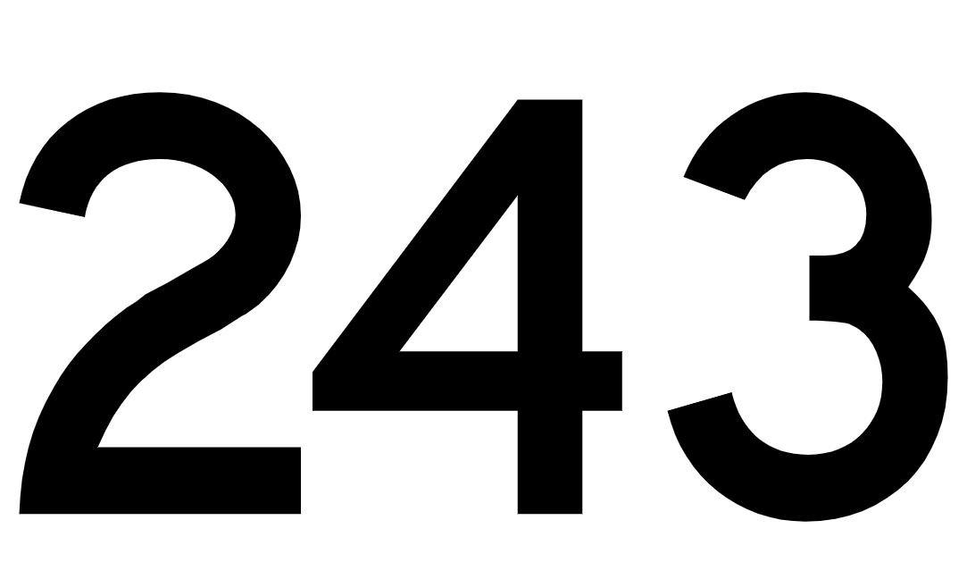 El número angelical 243